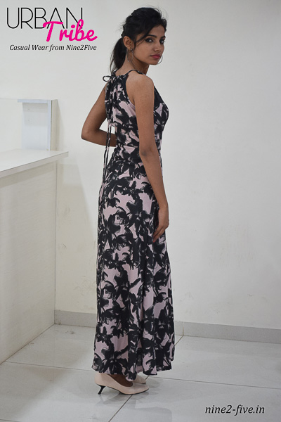 Nine2Five Long Dress, Long Dress, Floor Length Dress, Shoulderless Dress, Printed Long Dress, Maxi Dress