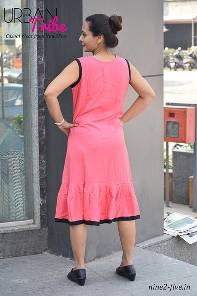 Nine2Five Short Dress, Short Dress, Peach Short Dress, Rayon Dress, Cotton Dress, Sleeveless Short Dress